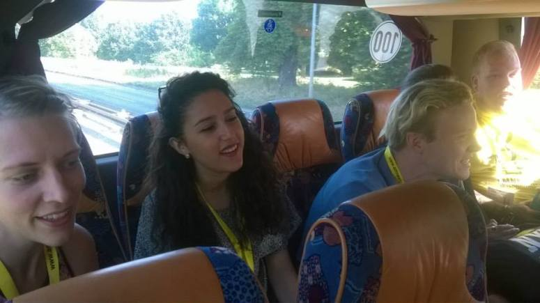 On the bus to Copenhagen on Day 3 for some presentations and the Public Action. Some singing of ABBA and Lion King songs was definitely in order! Credits: Maria Talvela