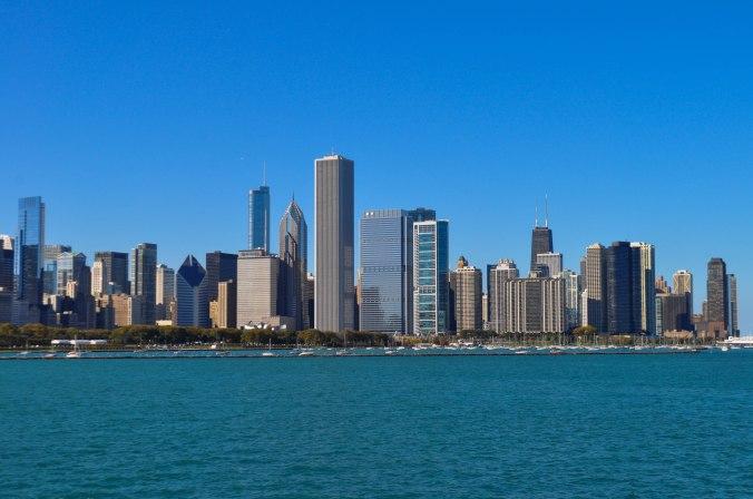 The Chicago Skyline from near the Adler Planetarium.