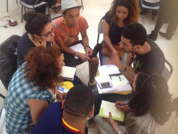 Group work on the first day of the training. Most of the training was done in small groups such as this one. Photo credits: Lila Bouchenaf