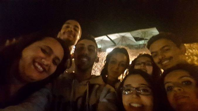 Some members of the Moroccan and Tunisian delegations on our first time in Hammamet. Selfie by Omar Benyassine.