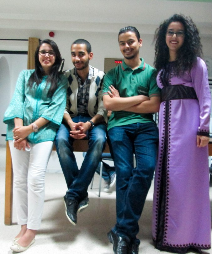 L-to-R: Douaa, Oussema, Sabri, and myself at the Cultural Night.