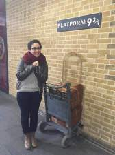 Hmmm, I wonder what the first thing Nahla will do when she reaches London. PLATFORM 9 3/4 OF COURSE
