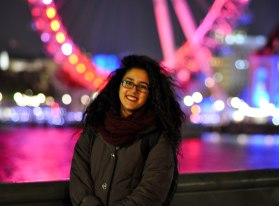 Touristy picture on the Westminster Bridge taken by the lovely Sarah.