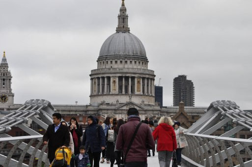 St. Paul's Cathedral from Millenium Bridge.