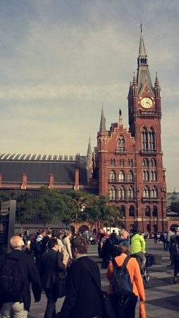 St. Pancras station on my last morning.